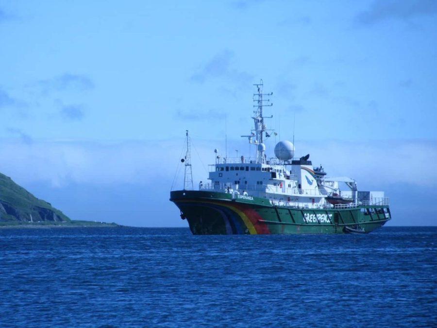 Photo of Greenpeace MV Esperanza in the Bering Sea